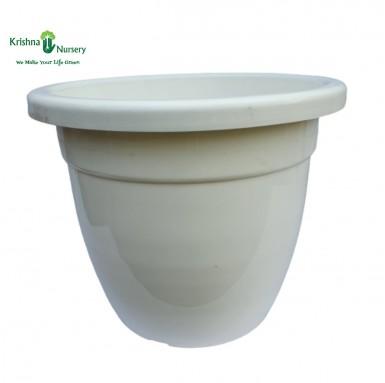"""22"""" White Pot"""