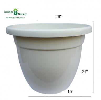 """26"""" White Pot"""
